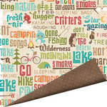 Imaginisce - Happy Camper Collection - 12 x 12 Double Sided Paper with Glossy Accents - Gone Fishing