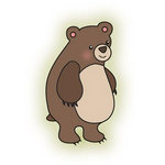 Imaginisce - Happy Camper Collection - Snag 'em Acrylic Stamps - Bear