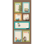 Imaginisce - Happy Camper Collection - Sticker Stackers - 3 Dimensional Stickers with Glossy Accents - Story Telling