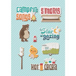 Imaginisce - Happy Camper Collection - Canvas Stickers - S'more