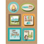 Imaginisce - Happy Camper Collection - Sticker Stackers - 3 Dimensional Stickers with Glossy Accents - Roughing It