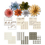 Imaginisce - Gotta Buy Basics Collection - Roly Rosies - Paper - Neutrals