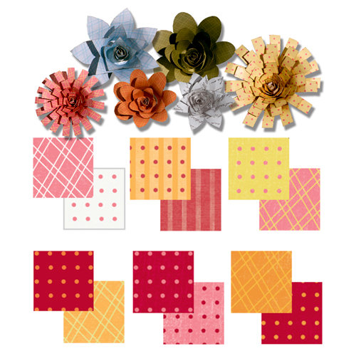 Imaginisce - Gotta Buy Basics Collection - Roly Rosies - Paper - Warm