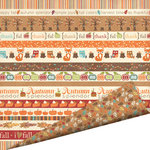Imaginisce - Happy Harvest Collection - 12 x 12 Double Sided Paper with Glossy Accents - Autumn Splendor