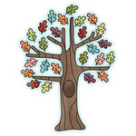 Imaginisce - Happy Harvest Collection - Snag 'em Acrylic Stamps - Tree