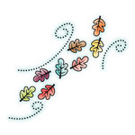 Imaginisce - Happy Harvest Collection - Snag 'em Acrylic Stamps - Swirling Leaves