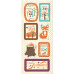 Imaginisce - Happy Harvest Collection - Chipboard Stickers with Glossy Accents - Happy Fall