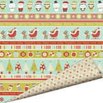 Imaginisce - Santa's Little Helper Collection - Christmas - 12 x 12 Double Sided Paper with Glossy Accents - Jingle All the Way