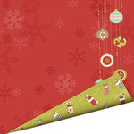 Imaginisce - Santa's Little Helper Collection - Christmas - 12 x 12 Double Sided Paper with Glossy Accents - Christmas Magic