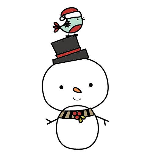 Imaginisce - Santa's Little Helper Collection - Christmas - Snag 'em Acrylic Stamps - Snowman