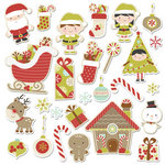 Imaginisce - Santa's Little Helper Collection - Christmas - Die Cut Cardstock Pieces with Glossy Accents - Trimmin' the Tree Icon