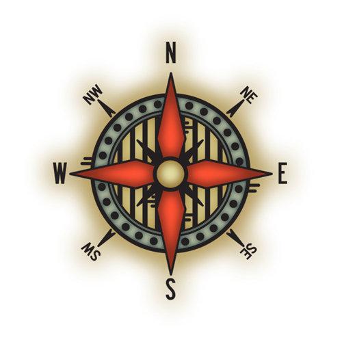 Imaginisce - Bon Voyage Collection - Snag 'em Acrylic Stamps - Compass