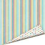 Imaginisce - Geek is Chic Collection - 12 x 12 Double Sided Paper with Glossy Accents - Cafeteria Line
