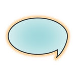 Imaginisce - Geek is Chic Collection - Snag 'em Acrylic Stamps - Speech Bubble