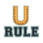 Imaginisce - Geek is Chic Collection - Snag 'em Acrylic Stamps - U Rule