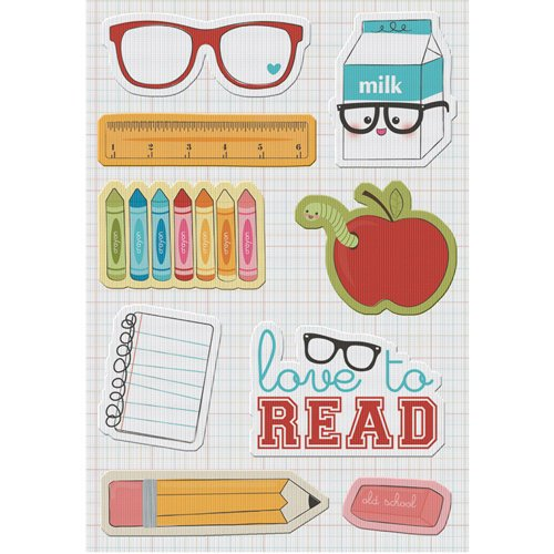 Imaginisce - Geek is Chic Collection - Canvas Stickers - Study Buddies