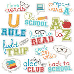 Imaginisce - Geek is Chic Collection - Die Cut Cardstock Pieces with Glossy Accents - U Rule Word