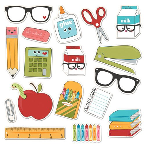 Imaginisce - Geek is Chic Collection - Die Cut Cardstock Pieces with Glossy Accents - Class Act Icon
