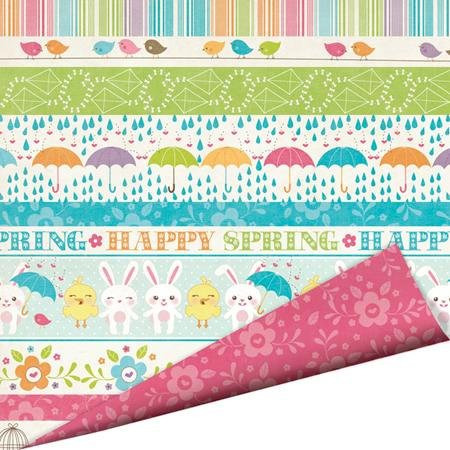 Imaginisce - Hippity Hop Collection - 12 x 12 Double Sided Paper with Glossy Accents - Happy Spring