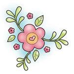 Imaginisce - Hippity Hop Collection - Snag 'em Acrylic Stamps - Spring Flower