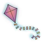 Imaginisce - Hippity Hop Collection - Snag 'em Acrylic Stamps - Kite