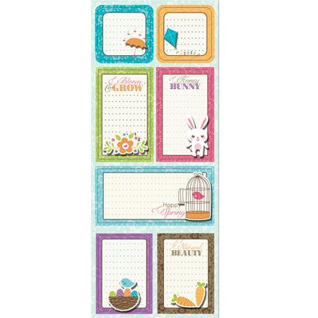 Imaginisce - Hippity Hop Collection - Sticker Stacker - 3 Dimensional Stickers with Glossy Accents - Bloom and Grow