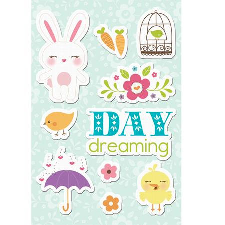 Imaginisce - Hippity Hop Collection - Canvas Stickers - Day Dreaming