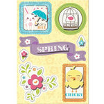 Imaginisce - Hippity Hop Collection - Sticker Stacker - 3 Dimensional Stickers with Glossy Accents - Rainy Day