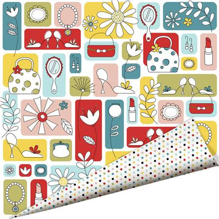 Imaginisce - Sole Sisters Collection - 12 x 12 Double Sided Paper with Glossy Accents - Girl Stuff