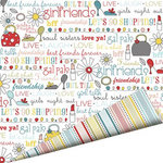 Imaginisce - Sole Sisters Collection - 12 x 12 Double Sided Paper with Glossy Accents - Chic Chat
