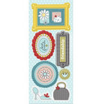 Imaginisce - Sole Sisters Collection - Chipboard Stickers with Glossy Accents - Note-orious