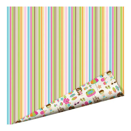 Imaginisce - Makin' Waves Collection - 12 x 12 Double Sided Paper with Glossy Accents - Tropical Heatwave