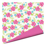 Imaginisce - Makin' Waves Collection - 12 x 12 Double Sided Paper with Glossy Accents - Bloomin' Hot