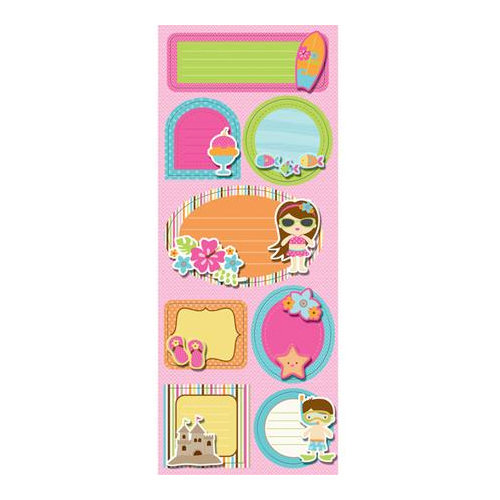 Imaginisce - Makin' Waves Collection - Sticker Stacker - 3 Dimensional Stickers with Glossy Accents - Sunny Side Up
