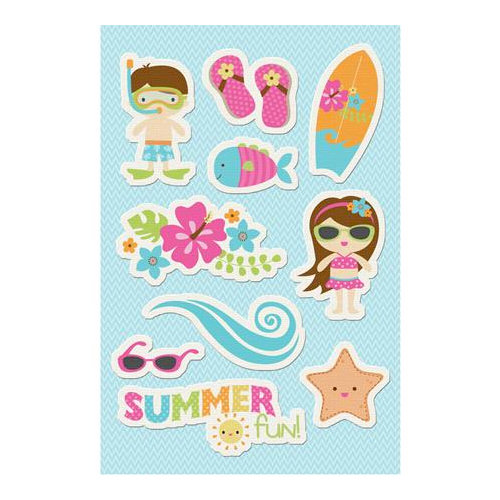 Imaginisce - Makin' Waves Collection - Canvas Stickers - Summer Fun