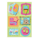 Imaginisce - Makin' Waves Collection - Sticker Stacker - 3 Dimensional Stickers with Glossy Accents - Wet 'n Wild