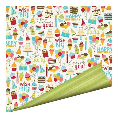 Imaginisce - Hello, Cupcake Collection - 12 x 12 Double Sided Paper with Glossy Accents - Celebrate You