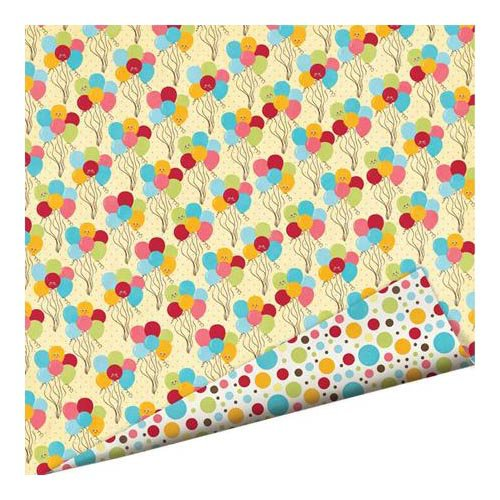 Imaginisce - Hello, Cupcake Collection - 12 x 12 Double Sided Paper with Glossy Accents - Party Time
