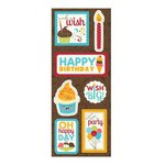 Imaginisce - Hello, Cupcake Collection - Chipboard Stickers with Glossy Accents - Oh Happy Day