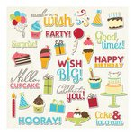 Imaginisce - Hello, Cupcake Collection - Die Cut Cardstock Pieces with Glossy Accents - Wish Come True