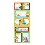 Imaginisce - Hello, Cupcake Collection - Sticker Stacker - 3 Dimensional Stickers with Glossy Accents - Good Times