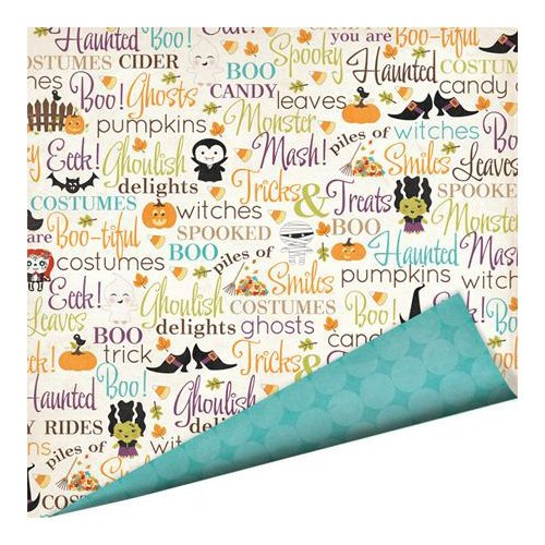 Imaginisce - Monster Mash Collection - Halloween - 12 x 12 Double Sided Paper with Glossy Accents - Tricks and Treats
