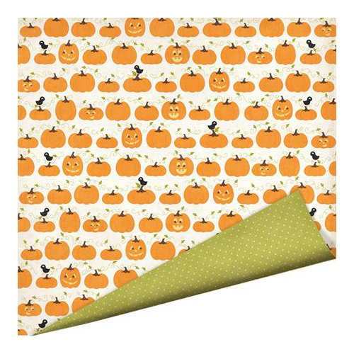 Imaginisce - Monster Mash Collection - Halloween - 12 x 12 Double Sided Paper with Glossy Accents - Pick of the Patch