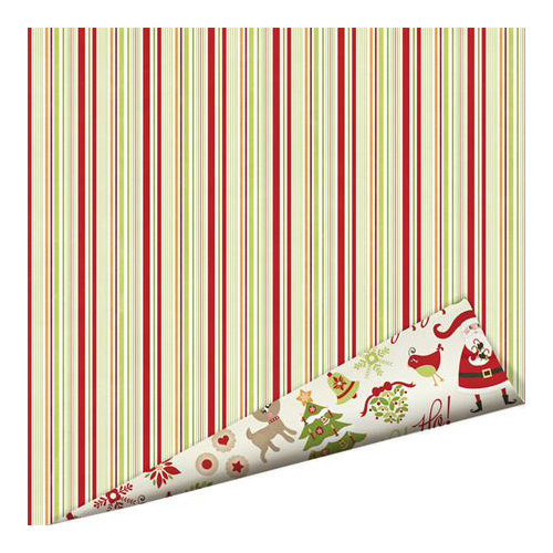 Imaginisce - Christmas Cheer Collection - 12 x 12 Double Sided Paper with Glossy Accents - Candy Cane Forest