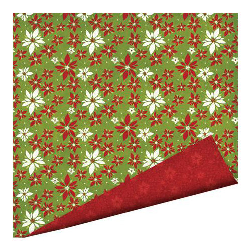 Imaginisce - Christmas Cheer Collection - 12 x 12 Double Sided Paper with Glossy Accents - Warm Wishes