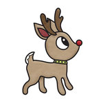 Imaginisce - Christmas Cheer Collection - Snag 'em Acrylic Stamps - Reindeer