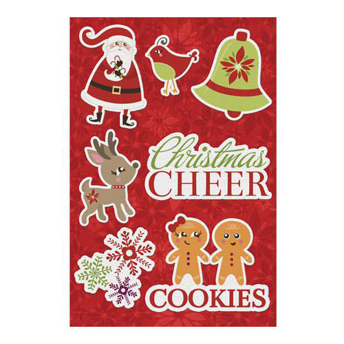 Imaginisce - Christmas Cheer Collection - Canvas Stickers - Christmas Cheer