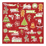 Imaginisce - Christmas Cheer Collection - Die Cut Cardstock Pieces with Glossy Accents - Rejoice