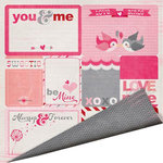 Imaginisce - Love You More Collection - 12 x 12 Double Sided Paper - Love Notes
