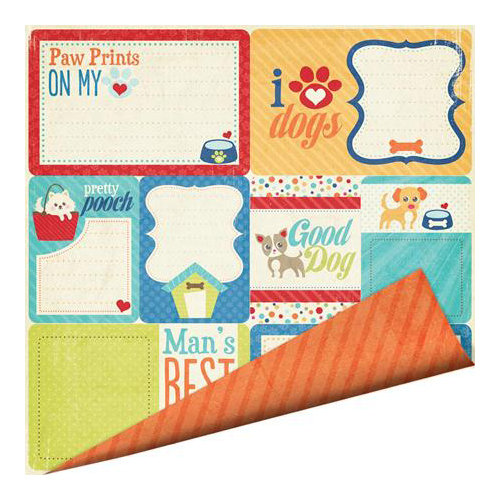 Imaginisce - Good Dog Collection - 12 x 12 Double Sided Paper - Doggy Mail